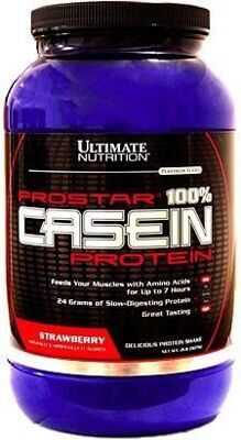 Ultimate Nutrition Prostar Casein 908 г клубника